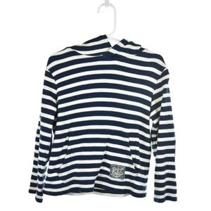 Polo by Ralph Lauren Blue & White Striped Hoodie
